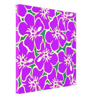 El hibisco púrpura florece el arte hawaiano impresion de lienzo