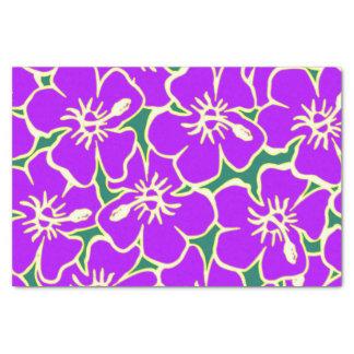 El hibisco púrpura florece Luau hawaiano tropical Papel De Seda Pequeño
