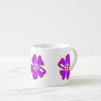 El hibisco púrpura florece Luau hawaiano tropical Taza Espresso