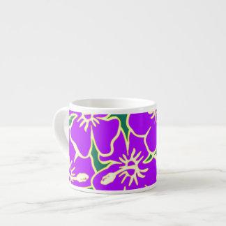 El hibisco púrpura florece Luau hawaiano tropical Tazas Espresso