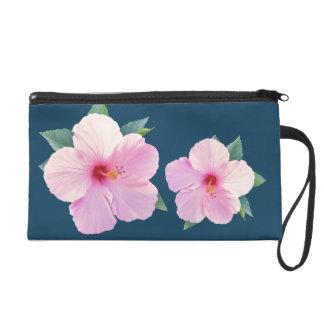 El hibisco rosado florece el bolso del accesorio d