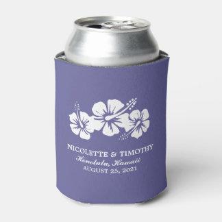 El hibisco tropical florece el boda oscuro de la enfriador de latas