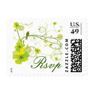 el hibisco verde del fatfatin remolina los tragos sellos postales