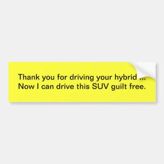 El híbrido de SUV le agradece Pegatina Para Auto