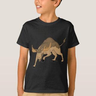 El híbrido enojado de los alces del camello playera