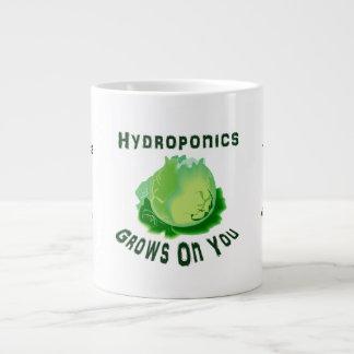 El hidrocultivo produce en usted lechuga tazas extra grande