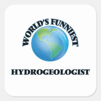 El hidrogeólogo más divertido del mundo pegatina cuadrada