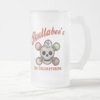 El hielo Creamatorium de Skullabee Jarra De Cerveza Esmerilada