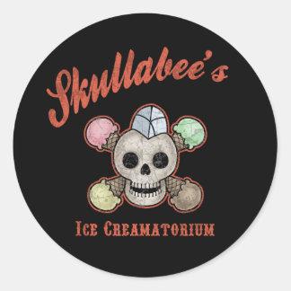 El hielo Creamatorium de Skullabee Pegatina