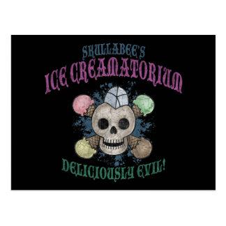 El hielo Creamatorium de Skullabee Postal