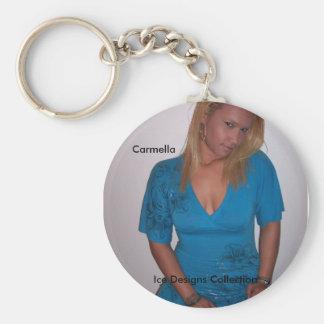 El hielo diseña la colección (Carmella) Llavero Redondo Tipo Pin