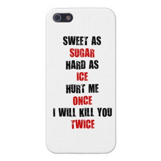 El hielo duro del azúcar dulce me dañó una vez que iPhone 5 carcasas
