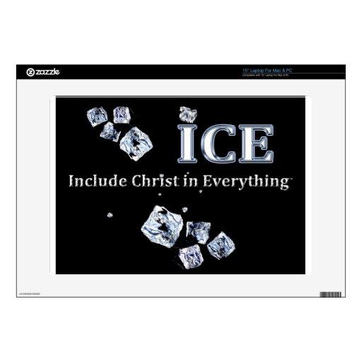 El HIELO = incluye a Cristo en todo 38,1cm Portátil Calcomanías