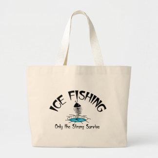 El hielo que pesca el fuerte sobrevive bolsa de mano