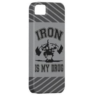 El hierro es mi droga funda para iPhone 5 barely there