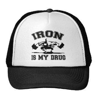 El hierro es mi droga gorras de camionero