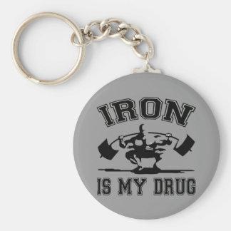 El hierro es mi droga llaveros