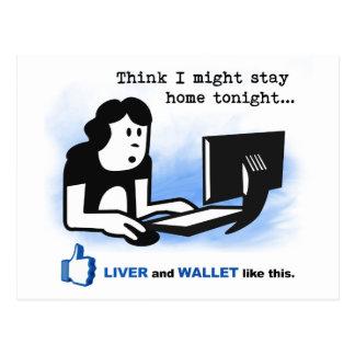 El hígado y la cartera tienen gusto de esto postal