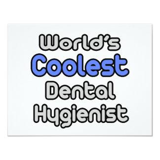 """El higienista dental más fresco del mundo invitación 4.25"""" x 5.5"""""""