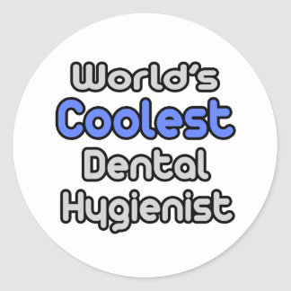 El higienista dental más fresco del mundo etiquetas redondas