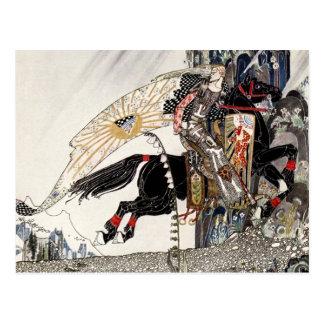 El hijo de la viuda: El chaval que monta el caball Tarjeta Postal