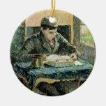 El hijo del artista, 1893 (aceite en lona) adorno navideño redondo de cerámica