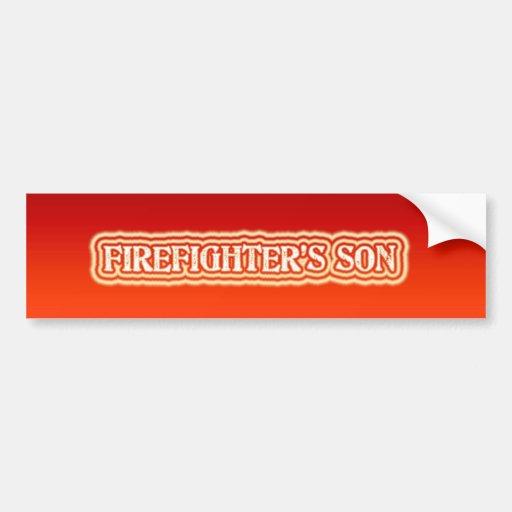 El hijo del bombero pegatina de parachoque