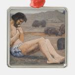 El hijo despilfarrador, C. 1879 (aceite en el lino Ornamento De Navidad