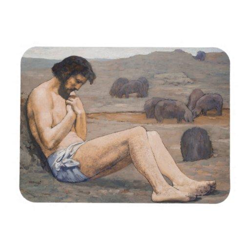 El hijo despilfarrador, C. 1879 (aceite en el lino Imanes De Vinilo