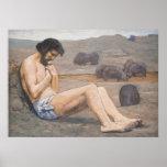 El hijo despilfarrador, C. 1879 (aceite en el lino Poster
