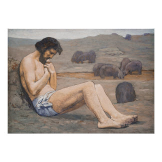 El hijo despilfarrador C 1879 aceite en el lino Poster
