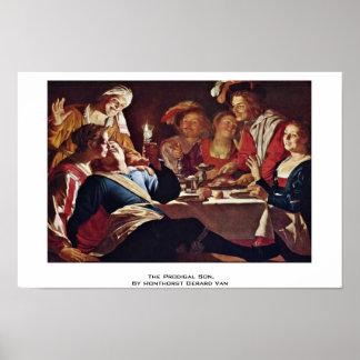 El hijo despilfarrador por Honthorst Gerard Van Posters