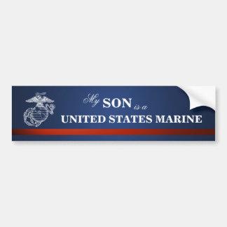 El hijo es infante de marina pegatina de parachoque