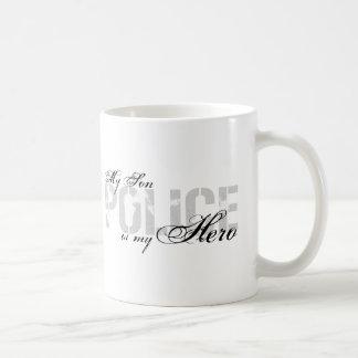 El hijo es mi héroe - POLICÍA Taza De Café