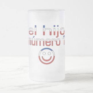 El Hijo Número 1 - Number 1 Son in Chilean 16 Oz Frosted Glass Beer Mug