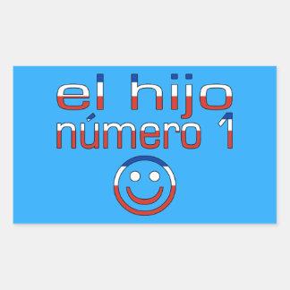 El Hijo Número 1 - Number 1 Son in Chilean Rectangular Sticker