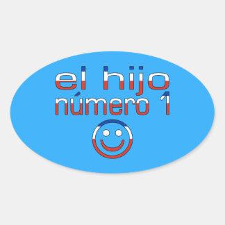 El Hijo Número 1 - Number 1 Son in Chilean Oval Sticker