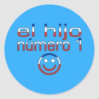 El Hijo Número 1 - Number 1 Son in Chilean Classic Round Sticker