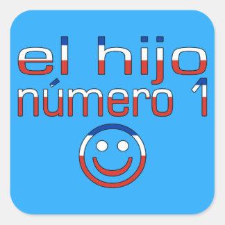 El Hijo Número 1 - Number 1 Son in Chilean Square Sticker