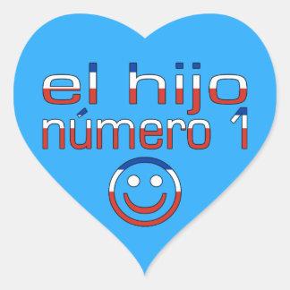El Hijo Número 1 - Number 1 Son in Chilean Heart Sticker