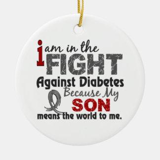 El hijo significa el mundo a mí diabetes adorno navideño redondo de cerámica