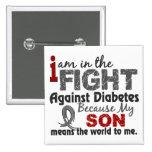 El hijo significa el mundo a mí diabetes pin cuadrado