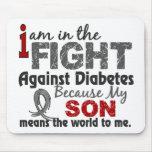 El hijo significa el mundo a mí diabetes alfombrilla de raton