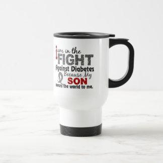El hijo significa el mundo a mí diabetes taza de viaje de acero inoxidable