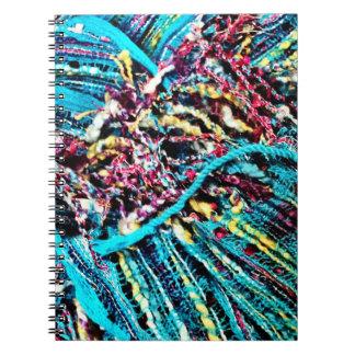 El hilado colorido del rosa de la turquesa del tru cuadernos