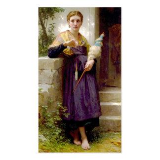 El hilandero William-Adolphe Bouguereau Tarjetas De Visita