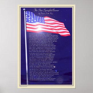 El himno americano impresiones