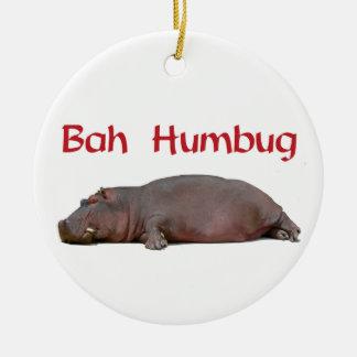 El hipopótamo del embaucamiento de Bah odia los Adorno Redondo De Cerámica