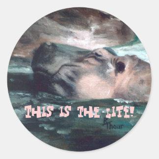 El hipopótamo esto es el pegatina de la vida