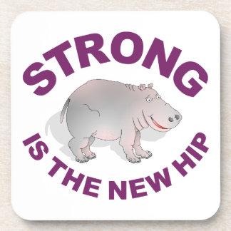 El hipopótamo, fuerte es la nueva cadera posavasos de bebidas